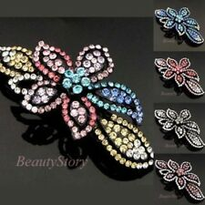 ADD'L Item FREE Shipping - Austrian Rhinestone Crystal Flower Hair Barrette Clip