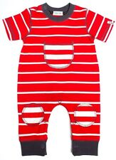 lilly & sid red striped play suit  SALE NOW 14.99