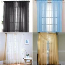 Chic Home Door Window Solid Sheer Curtains Colors Voile Drapes Panel Curtain L37