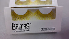 False Eyelashes Metallic Bright Colours for Party Show Fancy Dress (No Glue)