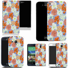 gel rubber case cover for  Mobile phones - nursery floral silicone