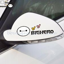 Super Warm Baymax Rearview mirror eyelids Side Door window car stickers Decals
