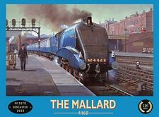 THE MALLARD - SCOTSMAN TRAIN RAILWAY STATION METAL SIGN TIN WALL ART PLAQUE 358