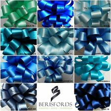 DOUBLE SATIN RIBBON SHADES OF BLUE 11 SHADES 8 WIDTHS 5 LENGTHS BERISFORDS