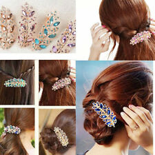 Boutique Women Hair Clip Leaf Crystal Rhinestone Barrette Hairpin Hair Band