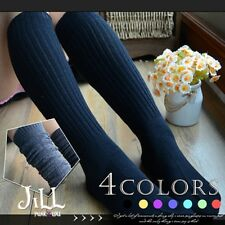Japan lolita fairy kei striped spun forest kei preppie knee high socks J3C021