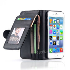 "Magnetic Flip Leather Wallet Case Cover Card Slot  For iPhone 6 4.7"" 6 Plus 5 5S"