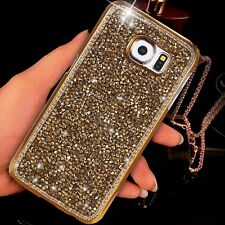 Luxury Bling Rhinestone Glitter Crystal Hard Back Case Cover For Samsung iPhone
