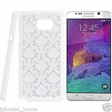 Transparent Vintage Damask Pattern White Case Cover For Samsung Galaxy Note 5