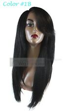Signature Looks Synthetic Straight Coarse Yaky Texture SK519 Lace Front Wig