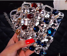 Bling Colorized Crystals Rhinestones Gems Hard Case For Various Mobile Phone