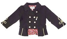 Juicy Couture Girl's Infant Black/Gold Jacket Sizes 12M 18M 24M NWT MSRP 98$