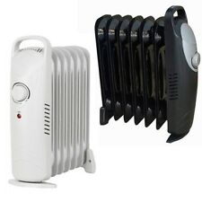 MINI 800W OIL FILLED RADIATOR PORTABLE ELECTRIC THERMOSTAT 6 FIN HEATER COMPACT