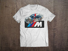 BMW Graphic Men White T-Shirt Fruit Of The Loom Fan Tee Shirt Gift Size S-2XL