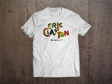 Eric Clapton Graphic White Men T-shirt Fuit Of the Loom Rock shirt Size S-XXL