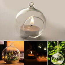 Glass Round Hanging Candle Tea Light Holder Candlestick Party Bar Home Decor
