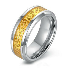 Fashion Men Dragon Scale Ring Rings Jewelry Wedding Band 18K Gold 8 9 10 11 12