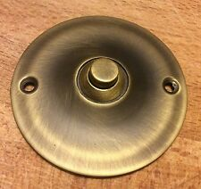 Solid Brass Wired Classic Round Push Button Door Bell 78 mm White Antique Finish
