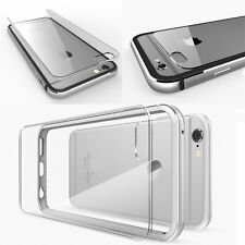 Ultrathin Aluminum Metal Bumper Clear Back Case Cover For iPhone 6s 4.7 Plus 5.5
