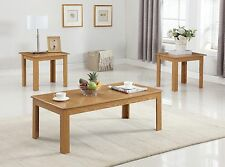 The Room Style Black/oak Finish Wood Coffee Table & 2 End Tables Occasional Set