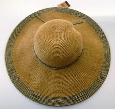 Natural Women's Crushable Packable Wide Brim Straw Floppy Hat SPF50 Protection