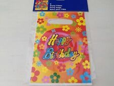 Happy Birthday Party Bags Napkins Serviettes Plastic Cups Plates Childrens Kids
