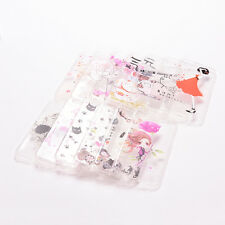 Fashion Transparent Pattern TPU Silicone Soft Back Case Cover Skin For iPhone JA