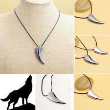 Hot Sale Stainless Steel Men Domineering Wolf Tooth Shape Pendant Necklace Good