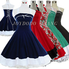 VINTAGE 50'S 60'S STYLE ROCKABILLY PINUP SWING RETRO EVENING PARTY DRESS 5COLS