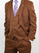 Stacy Adams Suny Walnut Vested Classic Fit Suit