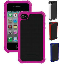 Apple iPhone 4 4S Ballistic Drop Protection Silicone Shell Gel Case Layer Cover