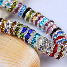 New Quantity Grade A Crystal Spacer Rondelle Beads Charm Jewelry Findings 8mm