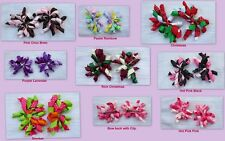 2pc Korker Curly Ribbon Bow Clip Piggy pony Tail Toddler Baby Hair Boutique girl