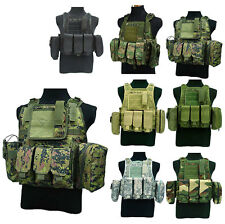Army Chest Rig Webbing Airsoft Tactical Swat Molle Combat Assault Paintball Vest