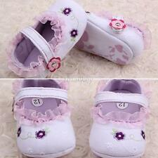 Hot Sell Kid Baby Girl Mary Jane Floral Lace Prewalker Soft Sole Crib Shoes T36