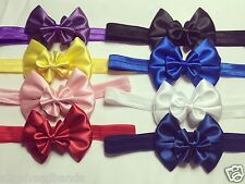 Baby Girls Headbands Bow Soft Elastic Band New Born Toddle Hair Accessories+ Lot