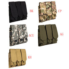 MOLLE Triple Three 5.56/.223 Assault Rifle AR M4 Magazine Mag Pouches  Holster