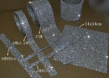 Iron On Hotfix Rhinestone Crystal Rope Chain Trims Clothes Appliques ss10 3mm