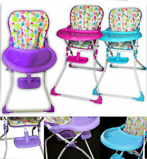 New BABY Highchair FEEDING FOLDABLE CHAIR Removable Tray TOP QUALITY GIFT
