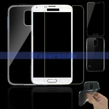 TEMPERED GLASS SCREEN PROTECTOR + BACK SOFT GEL CASE FOR SAMSUNG GALAXY S5 G900