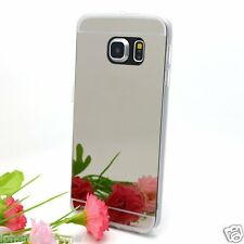 Luxury Ultra Thin Mirror/Make-Up Soft Jelly Silver Case Skin Cover For Galaxy S6