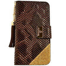 Womens Leather Flip Wallet Purse Case Credit Card Holder BROWN iPhone 6 6S Plus