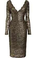 NEXT BLACK GOLD LACE PENCIL DRESS SIZE 6 - 16 NEW BODYCON REGULAR OR PETITE