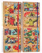 "Marvel SpiderMan Hulk Iron Man Captain America Spiral Hardcover Notebook 8.5""X6"""
