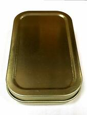 Silver 1oz Hinged Lid Tobacco/Stash Tin with Various Standard booklets by eTrend