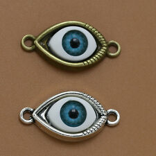 20/50x Antique Tibetan Silver/Bronze Tone Evil Eye/eyes Charm Connectors Pendant
