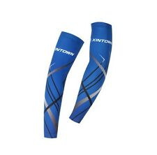 Cycling Arm Warmers Bike Bicycle UV Protection Arm Warmers Sleeve Cover Blue