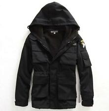 New Fashion Men Warm Coat Hooded Winter Parka Outerwear Zip Up Army Wild Jacket