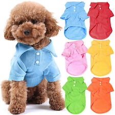 Pet Puppy Summer Polo Shirt Small Dog Cat Pet Clothes Costume Apparel TShirt BGO