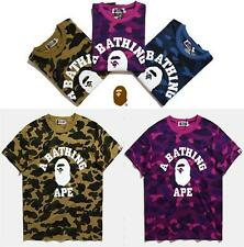 ck_abc New Arrival Men's Ape Camo Short Sleeves Bape Cotton Tee Shirt Aape M~XL